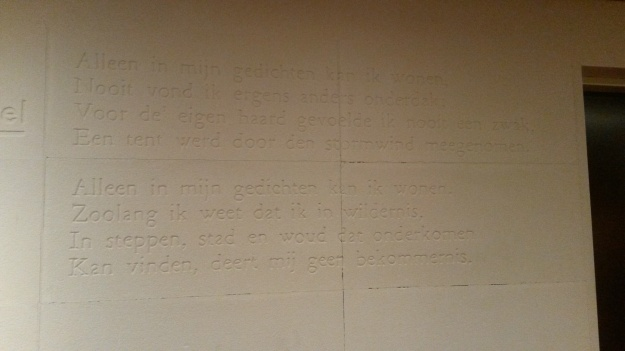 KB Aula wall poem